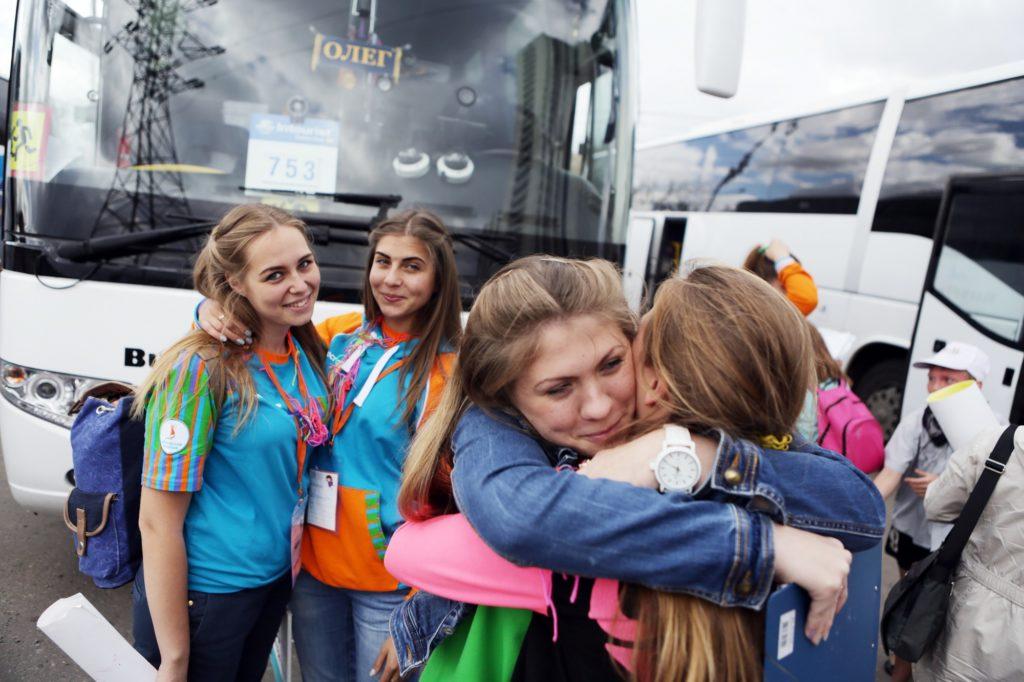 Встреча детей из летнего лагеря