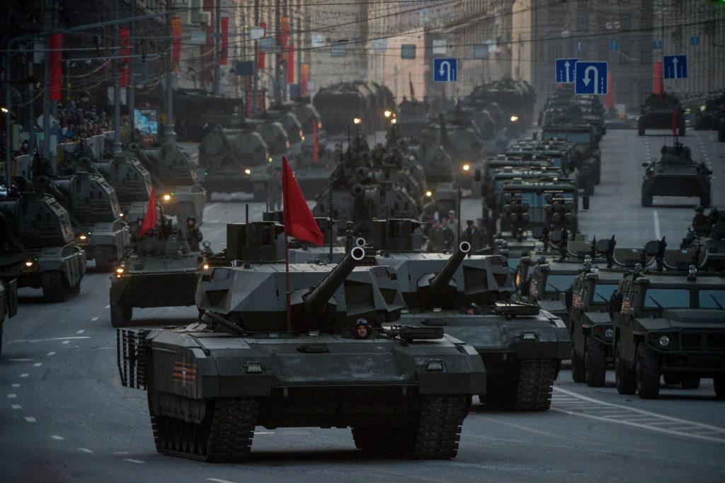 Репетиция военного парада в Москве. Фото: Александр Казаков, «Вечерняя Москва»