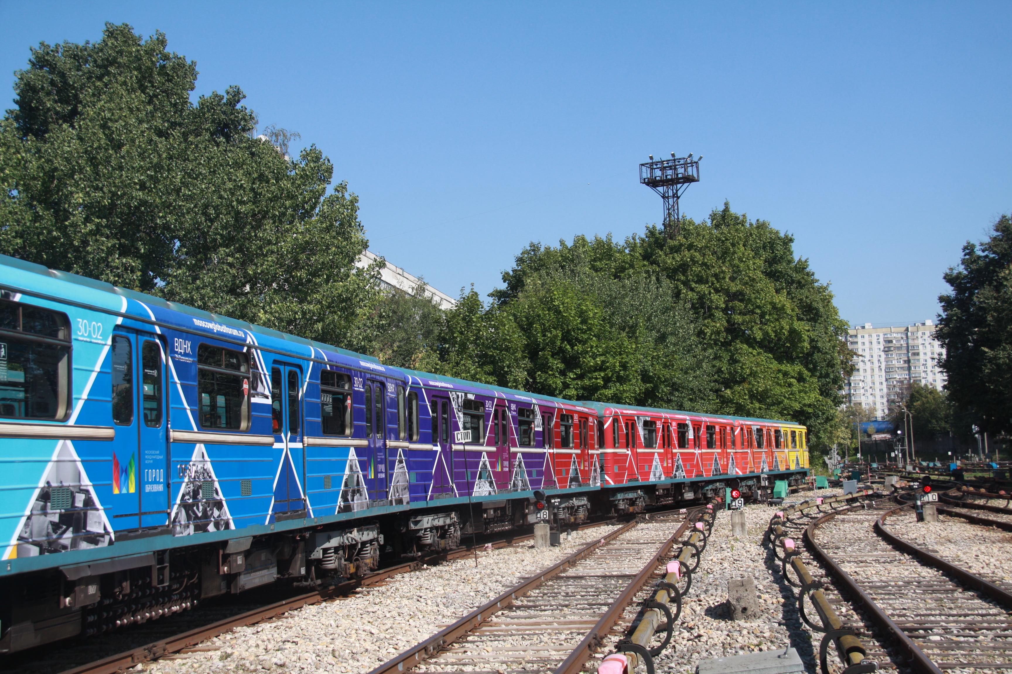 Тематический поезд «Город образования» запустили в метро. Фото: Павел Волков