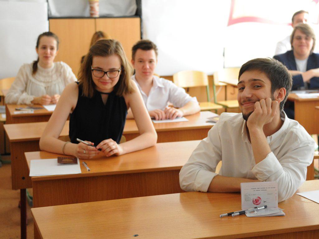 В столице завершился дополнительныйпериод проведения ЕГЭ. Фото: Александр Кожохин