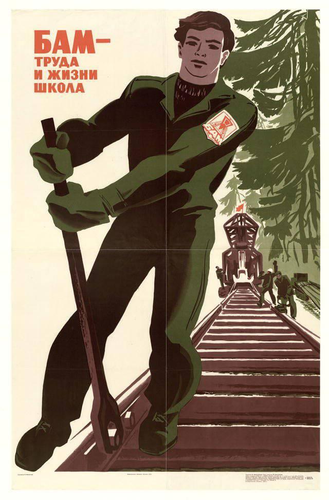 Один из агитационных плакатов. 1975 год. Автор: В. Д. Механтьев