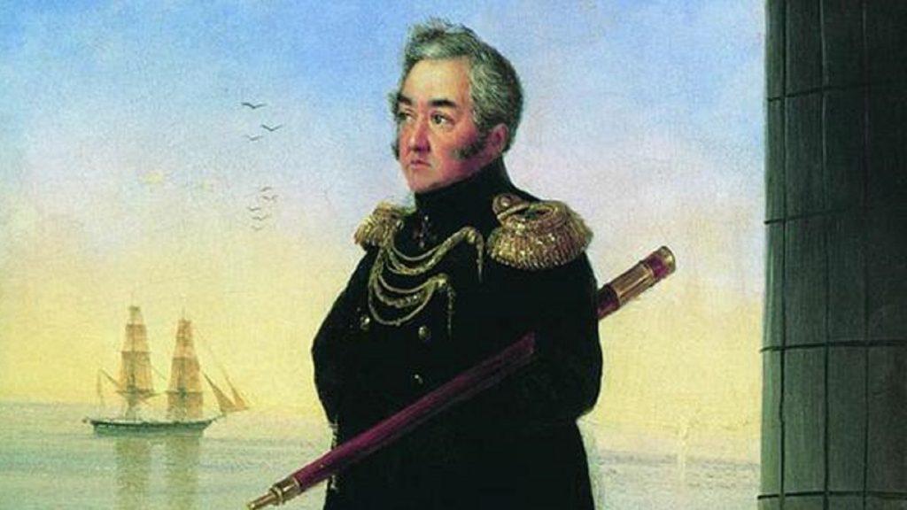 Портрет вице-адмирала М. П. Лазарева. И. К. Айвазовский, 1839 год