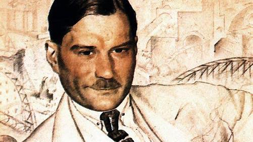 Портрет Евгения Замятина работы Бориса Кустодиева (1923 год)
