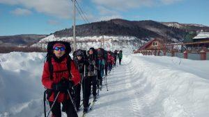 Юные лыжники вернулись из похода по Самарской области