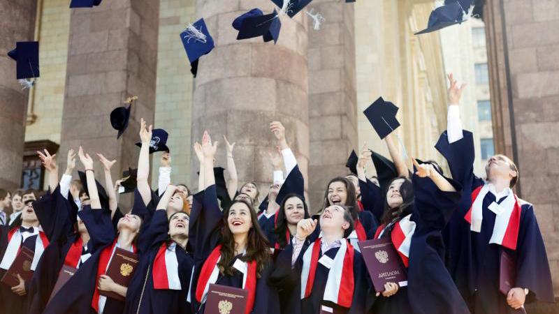 Вручение красных дипломов в МГУ. Анна Иванцова,