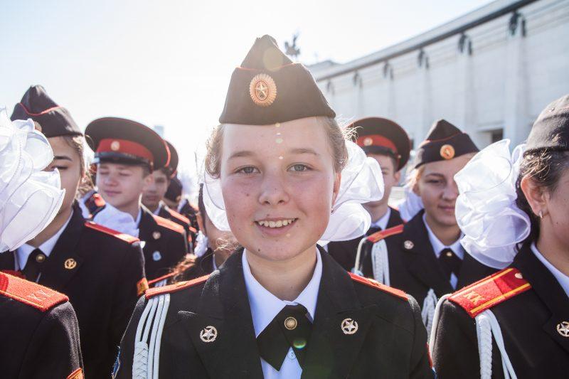 Более тысячи кадетов столицы стали участниками торжественной линейки у Музея Победы