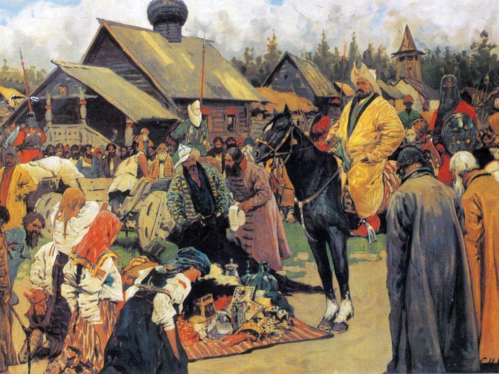 Картина художника Сергея Иванова «Баскаки», написанная в 1909 году
