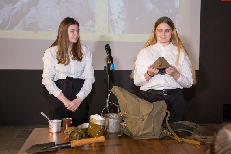 Московским школьникам рассказали о солдатском вещмешке