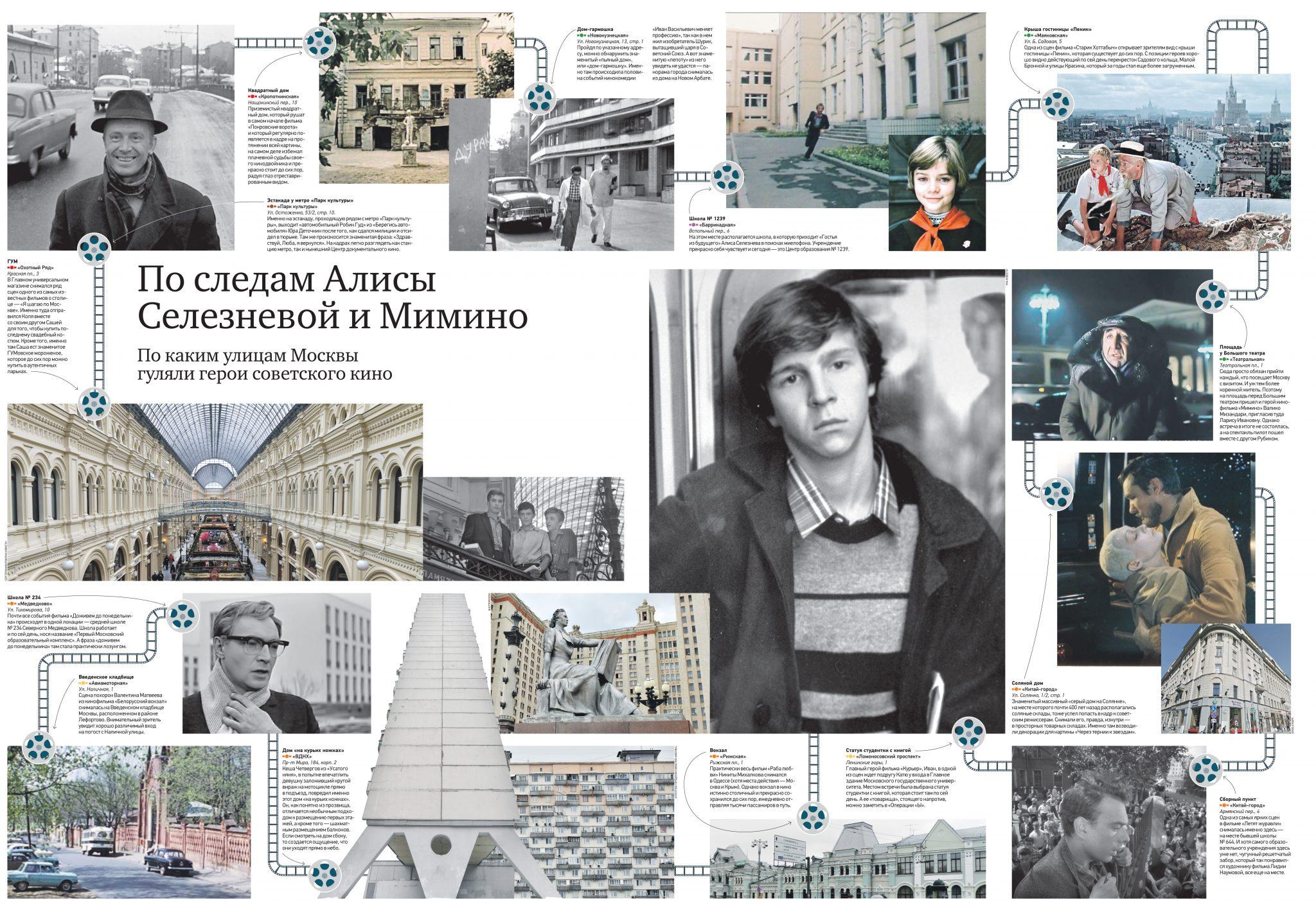 По следам Алисы Селезневой и Мимино. По каким улицам Москвы гуляли герои советского кино