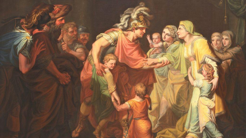 Картина «Великий князь Святослав, целующий мать и детей своих по возвращении с Дуная», wikipedia/Общественное достояние