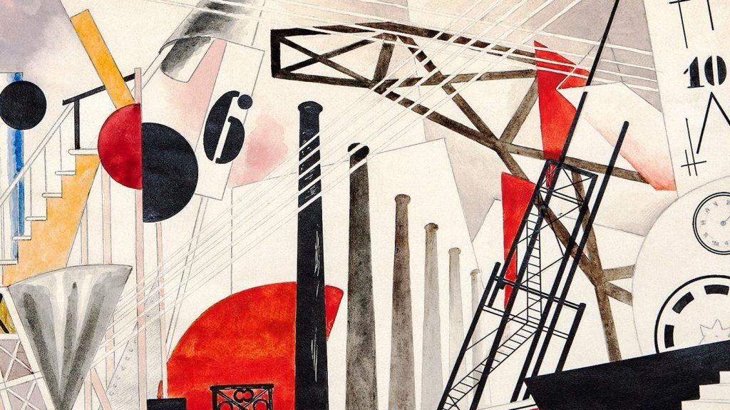 Эскиз декорации к спектаклю Георга Кайзера «Газ»/Юрий Анненков (1922 год)