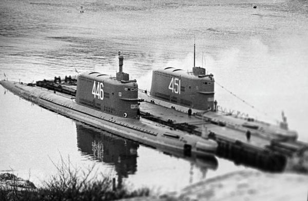Ракетные подводные лодки Краснознаменного Северного флота/ Н. Веринчук/РИА Новости