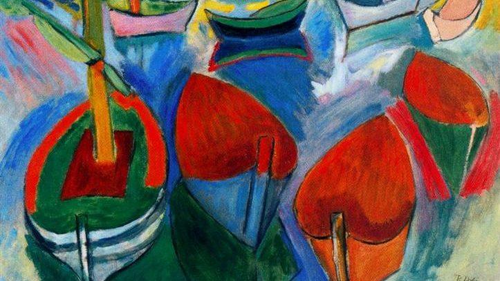 «Лодки в Мартиге» Рауля Дюфи созданная живописцем в 1908 году. Холст, масло