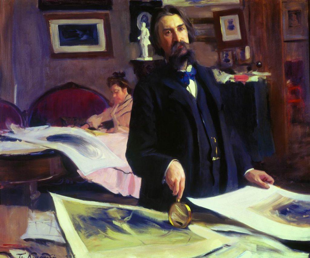 Портрет Василия Матэ кисти Бориса Кустодиева (1902)